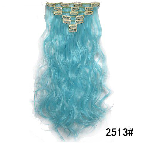 Synthetic Hair Fiber 50CM Body Wave Clip in Hair Extensions - 042