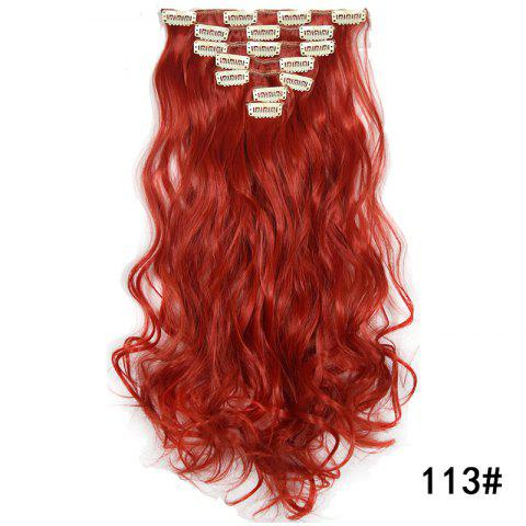 Synthetic Hair Fiber 50CM Body Wave Clip in Hair Extensions - 027