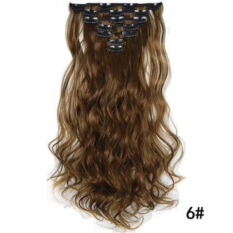 Synthetic Hair Fiber 50CM Body Wave Clip in Hair Extensions - 006