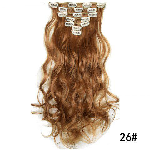 Synthetic Hair Fiber 50CM Body Wave Clip in Hair Extensions - 018