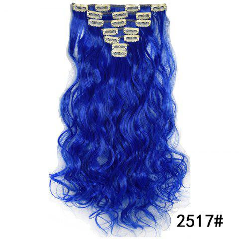 Synthetic Hair Fiber 50CM Body Wave Clip in Hair Extensions - 041