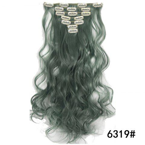 Synthetic Hair Fiber 50CM Body Wave Clip in Hair Extensions - 045