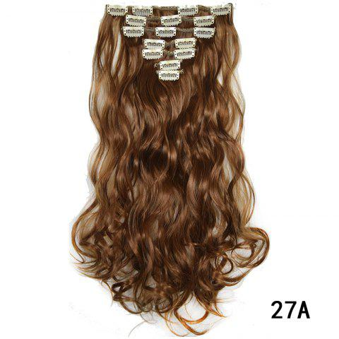 Synthetic Hair Fiber 50CM Body Wave Clip in Hair Extensions - 019