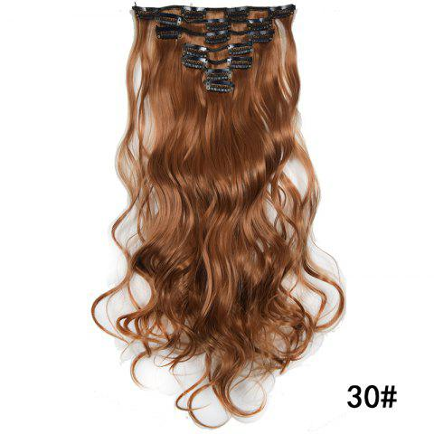 Synthetic Hair Fiber 50CM Body Wave Clip in Hair Extensions - 020