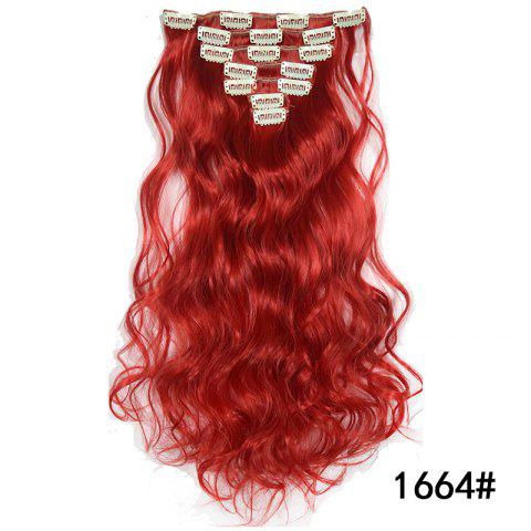 Synthetic Hair Fiber 50CM Body Wave Clip in Hair Extensions - 037