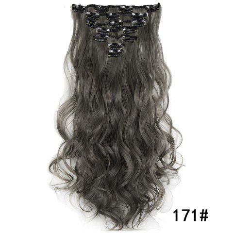 Synthetic Hair Fiber 50CM Body Wave Clip in Hair Extensions - 031