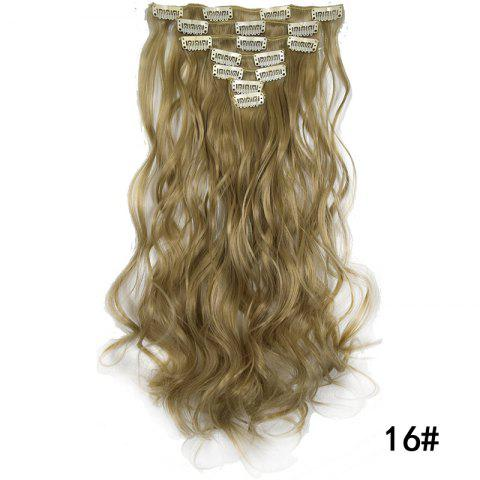 Synthetic Hair Fiber 50CM Body Wave Clip in Hair Extensions - 015