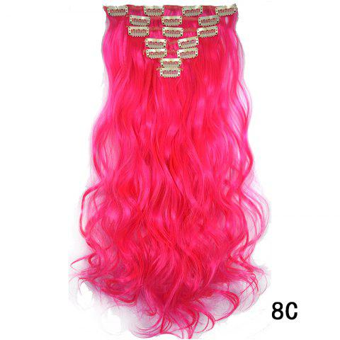 Synthetic Hair Fiber 50CM Body Wave Clip in Hair Extensions - 010