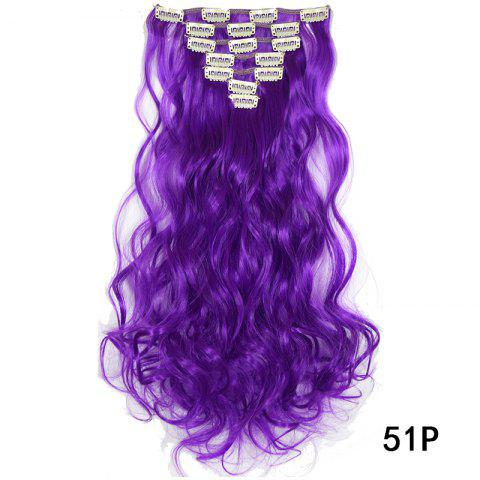Synthetic Hair Fiber 50CM Body Wave Clip in Hair Extensions - 024