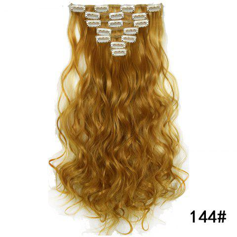 Synthetic Hair Fiber 50CM Body Wave Clip in Hair Extensions - 030