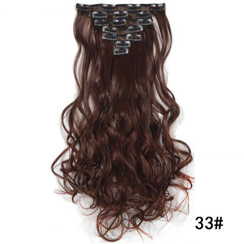 Synthetic Hair Fiber 50CM Body Wave Clip in Hair Extensions - 021