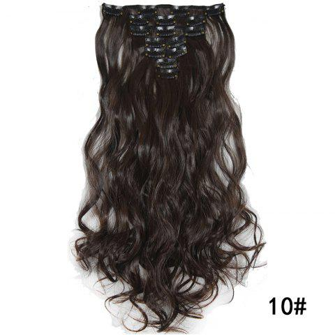 Synthetic Hair Fiber 50CM Body Wave Clip in Hair Extensions - 012