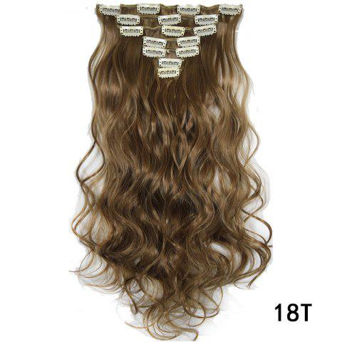 Synthetic Hair Fiber 50CM Body Wave Clip in Hair Extensions - 016