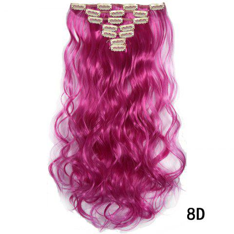 Synthetic Hair Fiber 50CM Body Wave Clip in Hair Extensions - 011