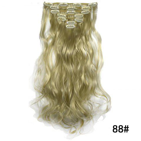 Synthetic Hair Fiber 50CM Body Wave Clip in Hair Extensions - 025