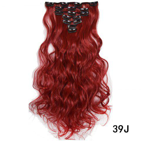 Synthetic Hair Fiber 50CM Body Wave Clip in Hair Extensions - 023
