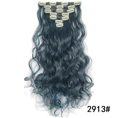 Synthetic Hair Fiber 50CM Body Wave Clip in Hair Extensions - 043