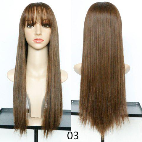 Fashion Fluffy and Realistic Qi Liu Long Straight Hair Wig - 003