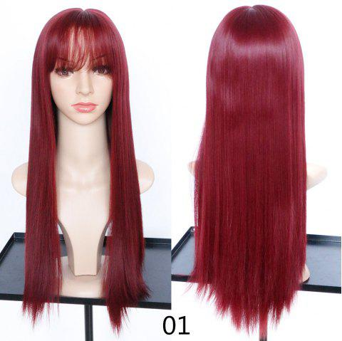 Fashion Fluffy and Realistic Qi Liu Long Straight Hair Wig - 001