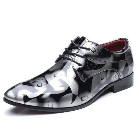 COSIDRAM Fashion Business Casual Men'S Leather Shoes Belt Shoes - PLATINUM EU 43