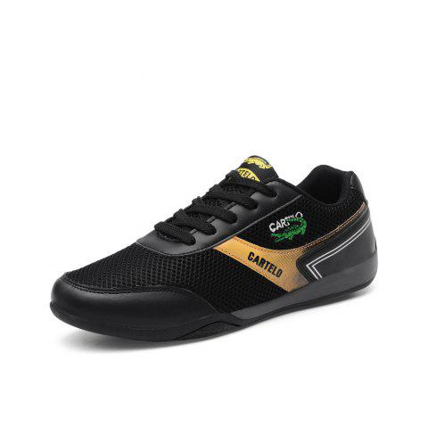 Summer New Breathable Mesh Mesh Shoes Men'S Trend Sports Shoes - BLACK EU 41