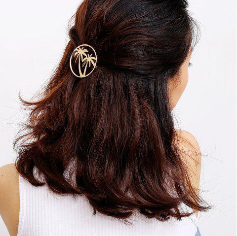 Tropical Coconut Hair Accessories - GOLD 1PC