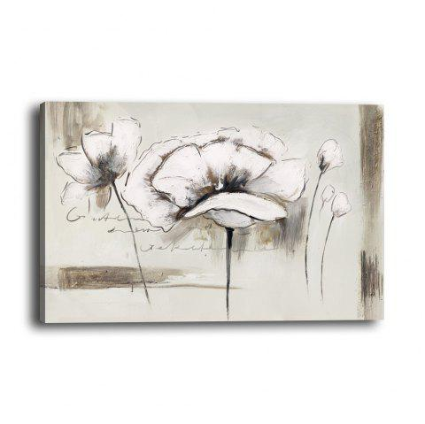 Modern Minimalist Abstract White Flower Living Room Background Wall Painting - multicolor 20CMX30CM