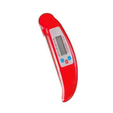 Stainless Steel Quick Probe Food Boiling Syrup Butter Baking Thermometer1 - RED