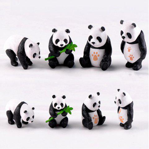 Chinese Giant Panda Dolls Creative Home Furnishing 8PCS1 - multicolor A