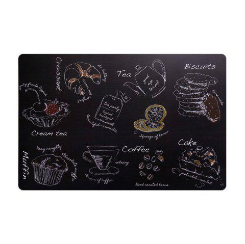 Fashion Waterproof Oil Heat Resistant Table Mat Drink Coaster Tableware - BLACK