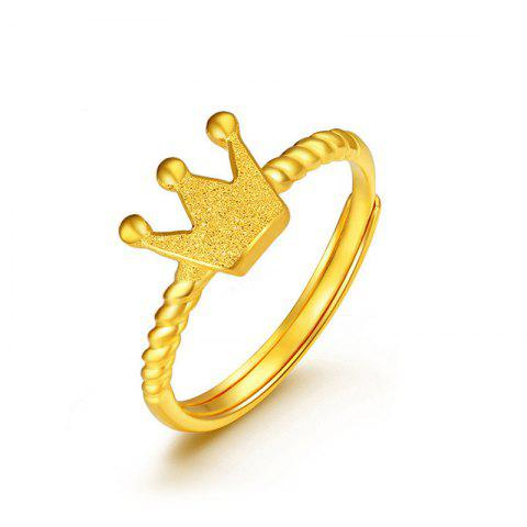 Fashionable Elegant Women's Crown Ring with Twist - GOLD US 7