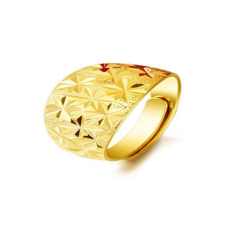 Simple Fashionable Men's Sparkling Star Rings - GOLD US 10