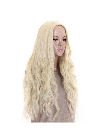 Long Curly Wavy Premium Heat Friendly Synthetic Hair wig Platinum Blonde  Daily 7edfdb7c33a4
