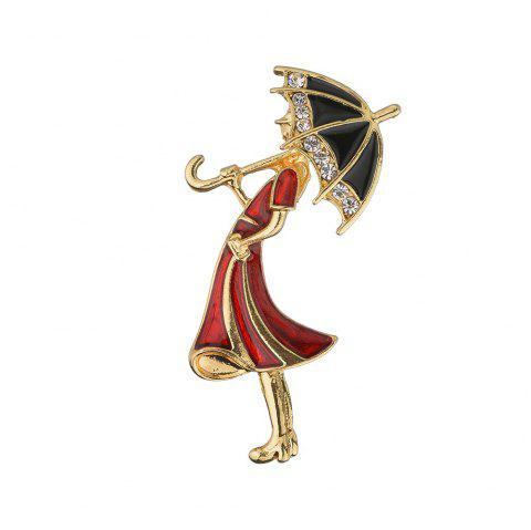 Women'S Fashion Humanoid Brooch - multicolor A 1PC