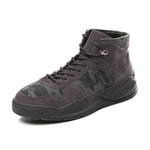 Men'S Fashion Camouflage Casual Board Shoes - multicolor A EU 43