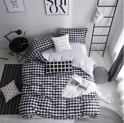 OMONNES Single Black and White Aloe Quilt Set for Household Use - NIGHT KING SIZE