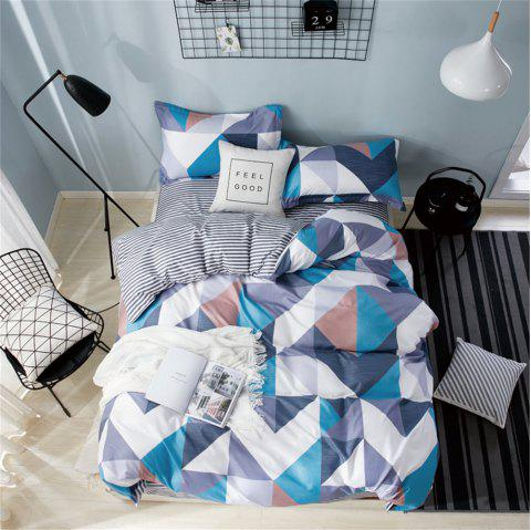 OMONNES Single Royal Style of Household Aloe Quilt Set - DARK GRAY QUEEN SIZE