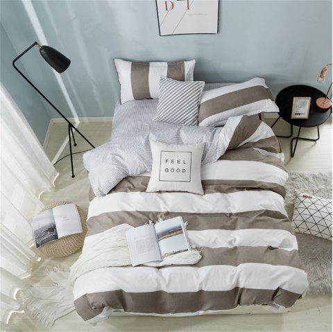 OMONNES Simple and Simple Cotton Quilt Set for Household Aloe Vera - CRYSTAL CREAM DOUBLE