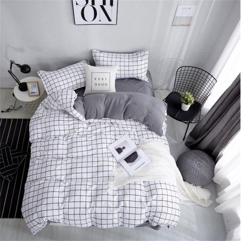 OMONNES Simple Life with Aloe Cotton Quilt Set for Household Use - WHITE DOUBLE