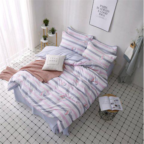 OMONNES Couette Ensemble Aloès Quilt Cotton Candy - Cerisier Rose DOUBLE