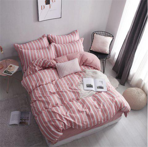 OMONNES Ensemble de couette en coton Aloe Vera ménage simple, Twilight - Rose Rosé QUEEN SIZE