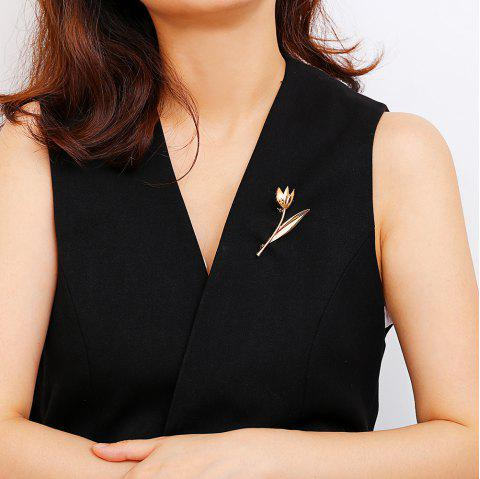 Simple Temperament Alloy  Brooch - GOLD 1PC