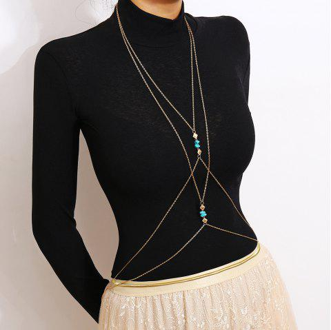Personalized Simple Body Chain - GOLD 1PC