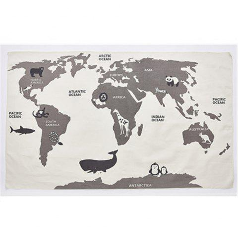 Adventure World Map Game Pad Crawling Mat Baby Earth Game Pad - WARM WHITE 1PC