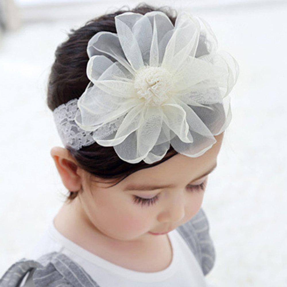 41 Off 2019 1pc Baby S Flower Headband Kids Elastic Wide Lace Hair Band Hair Accessory In Warm White Dresslily