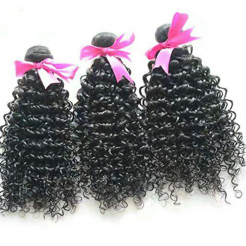 8-inch black twisted human curly hair - JET BLACK 10INCH