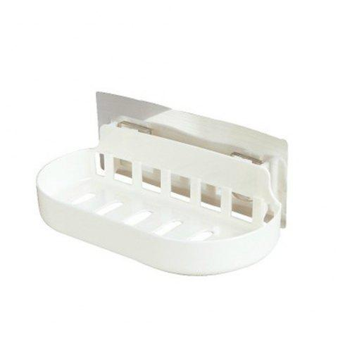 Hole-Free Storage Rack in Bathroom - WHITE