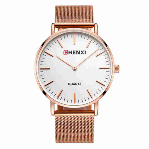 Chenxi Fashion Simple Mesh Steel Scale Scale avec Quartz Lovers Watch - multicolor C FOR MEN