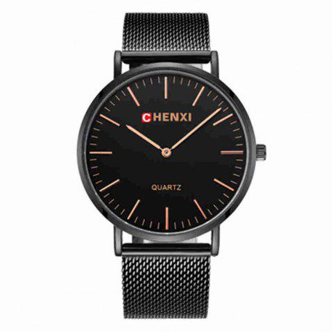 Chenxi Fashion Simple Nail Scale Steel Mesh with Quartz Lovers Watch - multicolor A FOR MEN