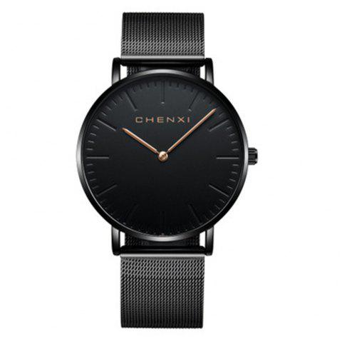 Chenxi Stylish and Simple Casual Lovers Steel Mesh with Waterproof Quartz Watch - multicolor A FOR MEN